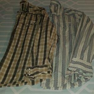 Western Lucky Brand Sportswear Shirts Lot sz XL
